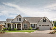 Craftsman Style House Plan - 3 Beds 2 Baths 1873 Sq/Ft Plan #48-101 - Dreamhomesource.com