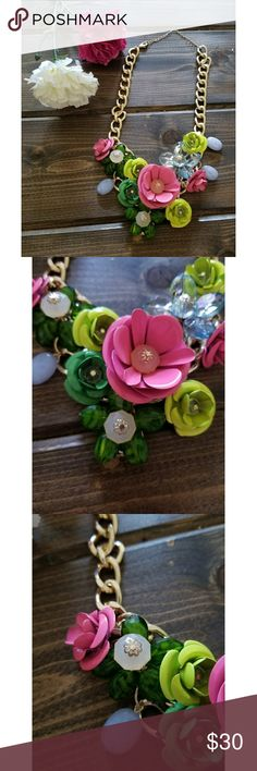 Multi Color Statement Necklace This statement piece adds some much deserved fun to any wardrobe. Jewelry Necklaces