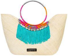 Caffe Swimwear Natural Iraca Fringe Beach Bag in Natural Women on shopstyle.com