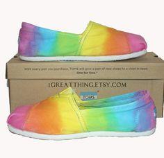 TOMS Shoes tie dye #tiedye