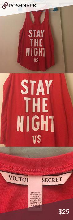 "Victoria's Secret Tank Victoria's Secret Tank, size medium. ""Stay the Night"" - fun and flirty!! NWOT. Victoria's Secret Intimates & Sleepwear Pajamas"