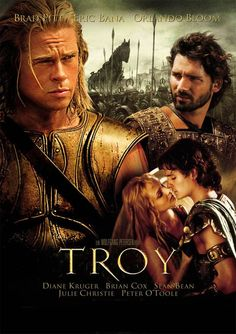 Troy (2004) In 1193 B.C., love-struck Prince Paris of Troy kidnaps legendary beauty Helen from her husband, setting their two nations on a collision course for war and bloodshed. The Greeks marshal their entire armada, sail to Troy and begin a decade-long siege.  Brad Pitt, Eric Bana, Orlando Bloom...TS war