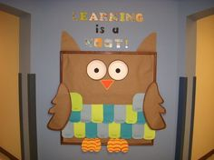I love owls...back to school hallway board