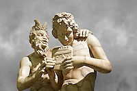 century AD Roman marble sculpture of Pan teaching Daphnis to play the pipes, a Roman copy late century BC Hellenistic Geek original attributed to Rodes sculptor Heliodoros. Pan's and Daphnis' heads and Daphnis' right arm are restorations. Roman Sculpture, Art Sculpture, Sculptures, Pictures Images, Travel Pictures, Cool Pictures, Naples Museum, Hellenistic Art, Picture Editor