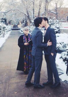 Standing in the snow, with snowflakes falling gently around you... immensely romantic