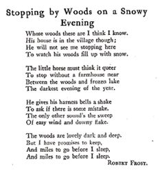 Robert Frost my most favorite poem ever