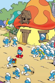 Smurf picture! I really love the smurfs!                                                                                     -Heidi