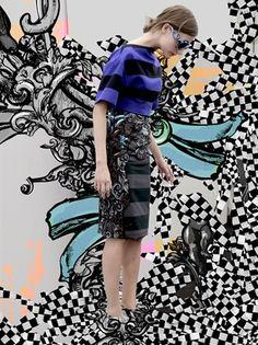 Prada - Giochi Lookbook  Mixing Art, fashion and fantasy