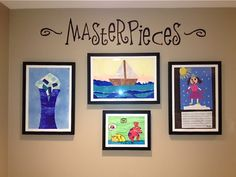 "We LOVE the hand painted ""Master pieces that Neda did above the Li'l Davinci® Art Gallery of 12x18 and 8 1/2x11 frames. What a great looking wall!"
