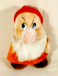 "VINTAGE 1980's Disney Snow White and The Seven Dwarfs GRUMPY Plush Toy 8"" #Disney   http://www.ebay.com/itm/VINTAGE-1980s-Disney-Snow-White-and-The-Seven-Dwarfs-GRUMPY-Plush-Toy-8-/201161818170"