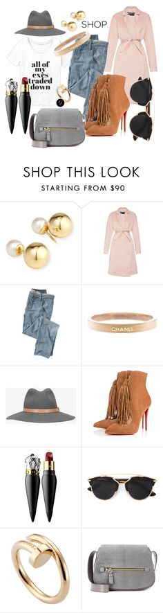 """""""All of My Exes..."""" by gritstyle ❤ liked on Polyvore featuring Yoko London, Rochas, Wrap, Chanel, rag & bone, Christian Louboutin, Christian Dior, Cartier, Tom Ford and women's clothing"""