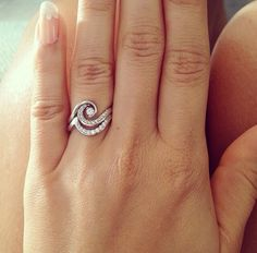 Diamond wave ring, beautiful!                                                                                                                                                     More