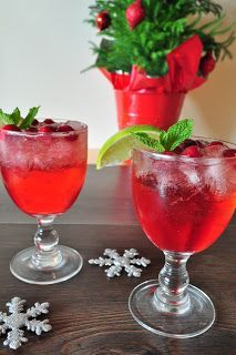 Cranberry and ginger ale vodka cocktail- Christmas Day?