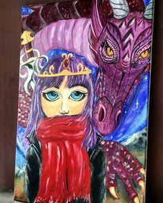 """ Girl and dragon "" - by Nila Sitoresmi"