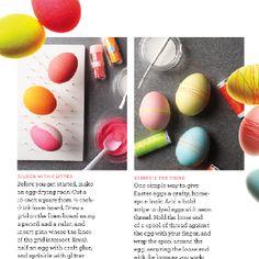 Glitter eggs marthastewart.com