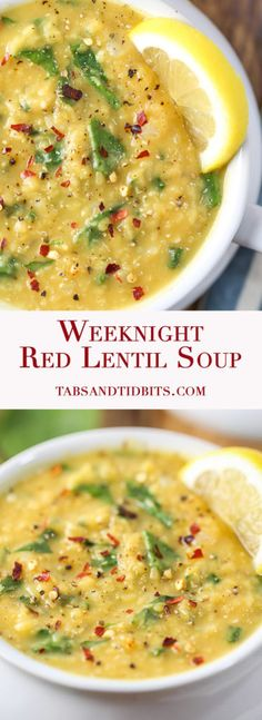 Weeknight Red Lentil Soup - A simple yet delicious uncomplicated soup that is vegan and vegetarian-friendly!