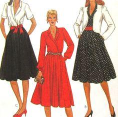 McCalls 7891 Uncut Vintage Pattern Misses Jacket and Dress Size 12