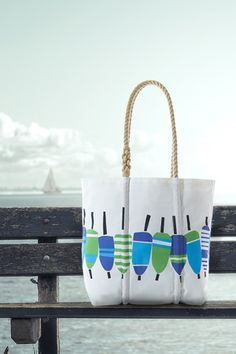 Buoy Print Tote - Handcrafted from Recycled Sails.- Buoy Print Tote – Handcrafted from Recycled Sails. Buoy Print Tote – Handcrafted from Recycled Sails. Coastal Christmas, Beach Tote Bags, Medium Tote, Beach Crafts, Bag Making, Purses And Bags, Nautical Bags, Bob's Furniture, Saffron Threads