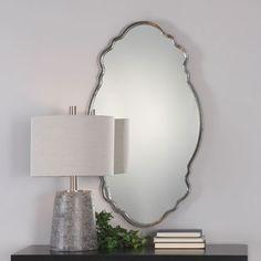 Samia Metallic Silver Mirror Uttermost Wall Mirror Mirrors Home Decor