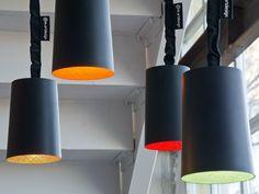 Lampada a sospensione in resina effetto lavagna PAINT LAVAGNA Collezione Matt Lavagna by In-es.artdesign