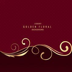 Luksusowe tło Złoty kwiatowy Wektor swobodny