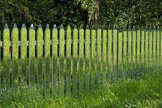 alyson shotz reflects green landscape with mirror fence - designboom | architecture