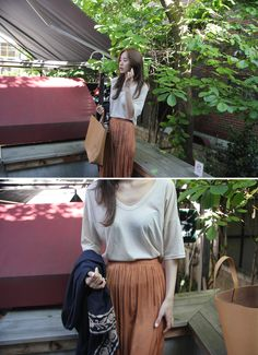 オフショルダーVネックTシャツ - PROSTJ - Off-the-Shoulder V-Neck T-Shirt