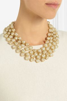 Rosantica|Gold-dipped freshwater pearl necklace|NET-A-PORTER