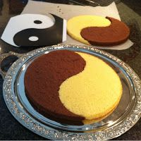 Pâtisserie Nadine: A Recipe for Marriage - Yin-Yang Gateau with Light and Dark Chocolate Mousse