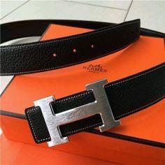 9743287e771 Men s Leather Hermes Belt Black - In box Gold   Silver buckle