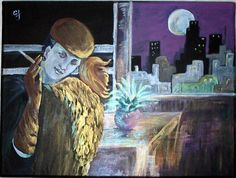 NIGHT ON THE TOWN. My original painting prints available from easyart.com