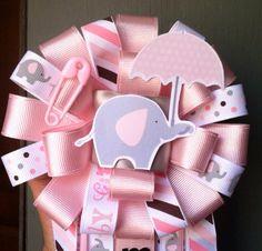Umbrellaphant PINK ELEPHANT baby shower package on Etsy, $45.00