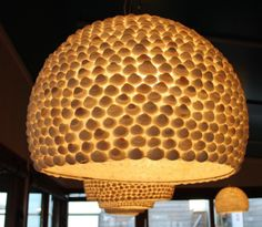 Seen in a Dutch sea side restaurant. Should be doable to make it yourself. Diy Lamps, Sea Side, Dutch, Restaurant, Ceiling Lights, Make It Yourself, Home Decor, Decoration Home, Dutch Language