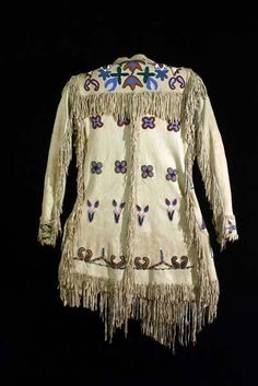 Backside of 415: Early Mans Beaded and Fringed Coat, c. 1880, Absaroke (Crow) Nation