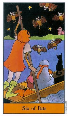 Six Of Bats - The Halloween Tarot