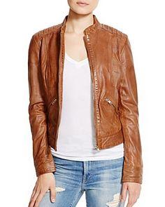 BB DAKOTA Redding Leather Moto Jacket | Bloomingdale's