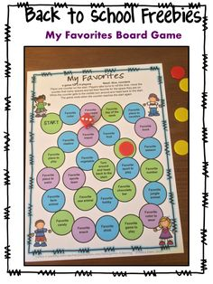 FREEBIE -  Games 4 Learning: Back to School Board Game Freebies - Printable Getting to Know You Games