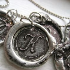 Nostalgic+Initial+letter+drop+pendant++no+chain+by+HattieRex,+$15.00