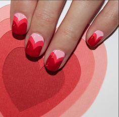 Valentine's Day nails 2015
