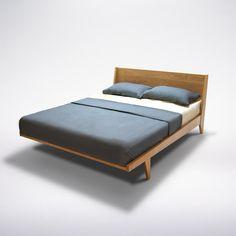 Modern Platform Bed Mid Century Solid Wood Handmade Organic Danish Scandinavian