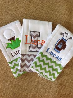 Set of 3 personalized burp cloths diaper cloths baby girl set of 3 personalized burp cloths diaper cloths baby boy monogrammed gift negle Gallery