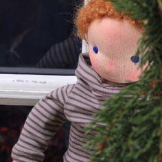 Barbaras Blumenkinder und Puppen Welt: Agi & Karlchen schmücken ihren Tannenbaum
