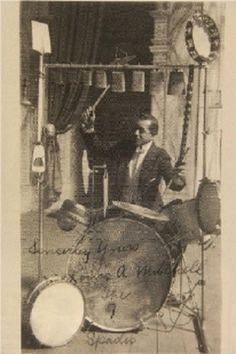 Antique drum sets 20's - 30's. http://www.polarityrecords.com/vintage-drum-kits-1920s-and-30s.html