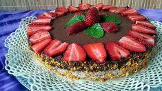 Csokis-epres torta SN Birthday Cake, Food, Birthday Cakes, Meals, Yemek, Cake Birthday, Eten
