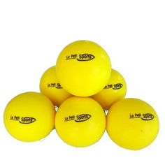 Le Petit Tennis Foam Balls - Yellow Tennis Balls Kids - Pack6 - (Stage 3 Ball - For Playing on 36ft Court) by Le Petit Tennis. $11.99. NEW PRODUCT - Great bounce, 80% slower than normal tennis balls. Transitional stage 3 balls type. Bigger than the Gamma Foam balls model CGF300 for slower play and added success. Pack of 6 balls. Designed for kids learning to play tennis on a short court or driveway. These balls are larger than standard yellow tennis balls, with a low...