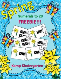 FREEBIE!!!   Engaging Spring Math Activity for Your Little Learners to Practice Numerals to 20!   Use all the cards or select only the ones you want to use.   #mentalmath  #subitization #kampkindergarten #spring  #free  #freebie  http://www.teacherspayteachers.com/Product/Spring-Numerals-to-20-FREEBIE-2449477
