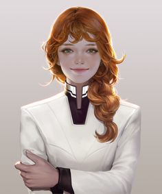 untitled by 'Snod Snow' : ImaginaryCharacters Character Concept, Character Art, Concept Art, Fantasy Princess, Sci Fi Characters, Shadowrun, Character Portraits, Ginger Hair, Character Design Inspiration