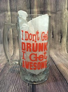 Funny Etched Glass Beer Mug Bar Quality Deer And Beer Make