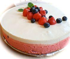 Carlie´s Kitchen: Nasjonalromantisk ostekake (17 mai kake)