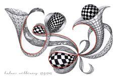a little lime: Zentangle by Helen Williams Zentangle Drawings, Doodles Zentangles, Zentangle Patterns, Doodle Drawings, Doodle Art, Zen Doodle, Henna Patterns, Tangle Doodle, Tangle Art